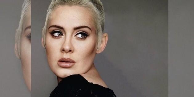 Fotografía de Adele rapada provoca revuelo en redes sociales