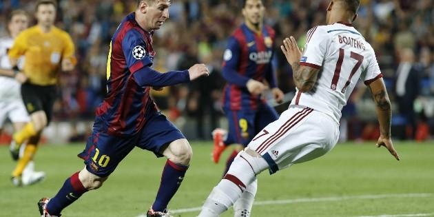 Boateng responde a críticas de cuando Messi lo humilló