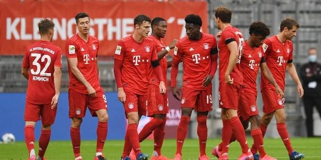 Bayern Múnich golea a Frankfurt y se declara listo para Clásico alemán
