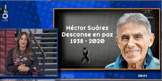 Andrea Legarreta al borde del llanto por la muerte de Héctor Suárez
