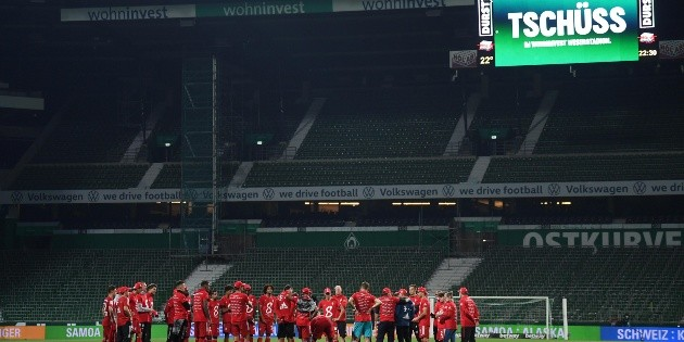 Fotogalería: Bayern celebra su octavo título consecutivo ante las tribunas vacías