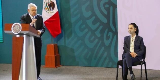 Sheinbaum destaca ante López Obrador reducción de delitos en CDMX