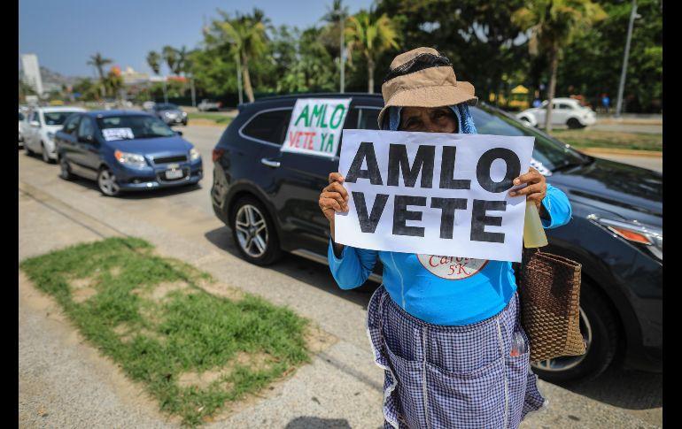 La protesta en Acapulco, Guerrero. EFE/D. Guzmán