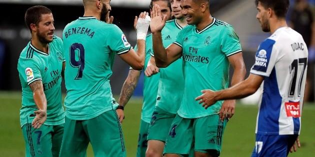 El Real Madrid se acerca al título de la Liga Española; vence al Espanyol