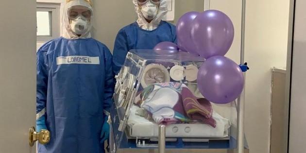 Recién nacida supera el COVID-19 en Yucatán