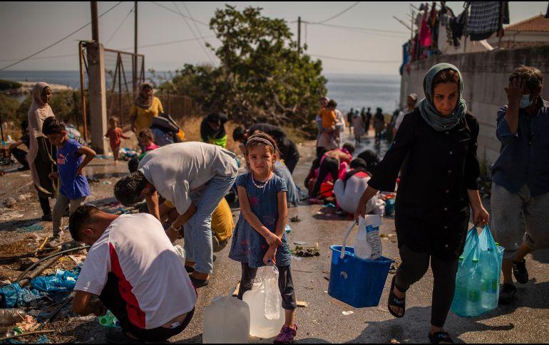Los campos de migrantes de Grecia deben respetar un confinamiento desde marzo debido a los casos de coronavirus. AFP / ARCHIVO