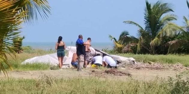 Planeador se estrella en el norte de Veracruz; hay un muerto