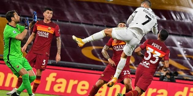 Cristiano rescata a una gris Juventus en Roma