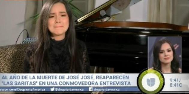 Aparece Sarita Sosa y rompe en llanto al recordar a José José