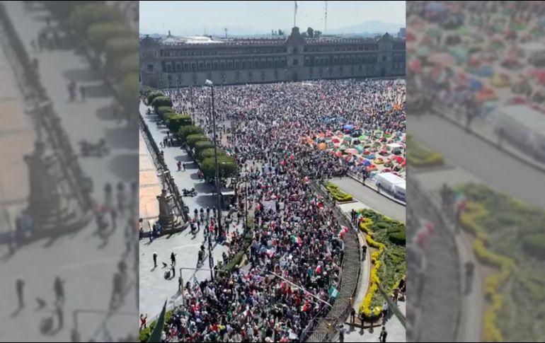 Ell Frente Nacional Anti-AMLO realizó ayer su marcha más grande para exigir la renuncia del Presidente Andrés Manuel López Obrador. SUN/ARCHIVO