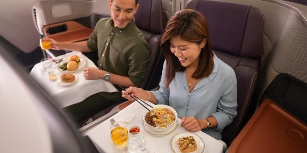 Aerolínea de Singapur transforma sus aviones en restaurantes