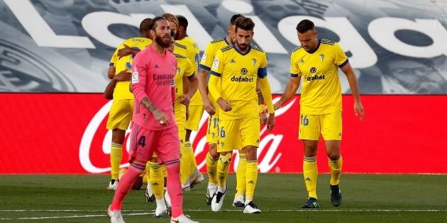 Histórico triunfo del Cádiz sobre el Real Madrid