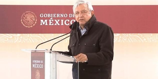 AMLO reduce discurso en Nuevo Laredo por protestas del Frena