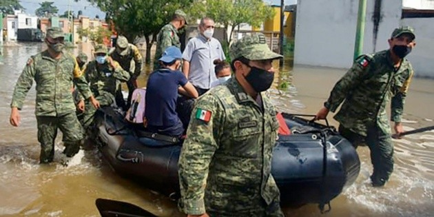 Despliegan a militares en Tabasco por inundaciones