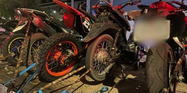 Aseguran 141 vehículos en carreras ilegales en Guadalajara