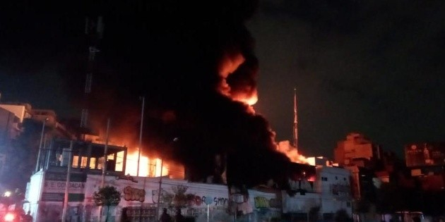 Se registra incendio en la alcaldía Benito Juárez