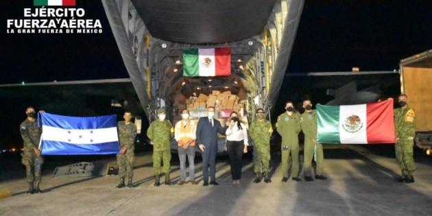 México envía 15.2 toneladas de ayuda humanitaria a Honduras