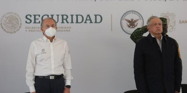 Gobernador de SLP da negativo a COVID-19, tras visita de López Obrador