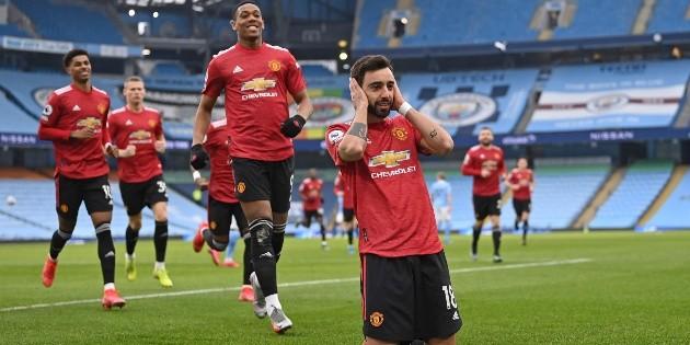 El Manchester United rompe la racha triunfal del City