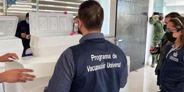 COVID-19 en Jalisco: llegan 50 mil 680 vacunas más; se aplicarán en Los Altos