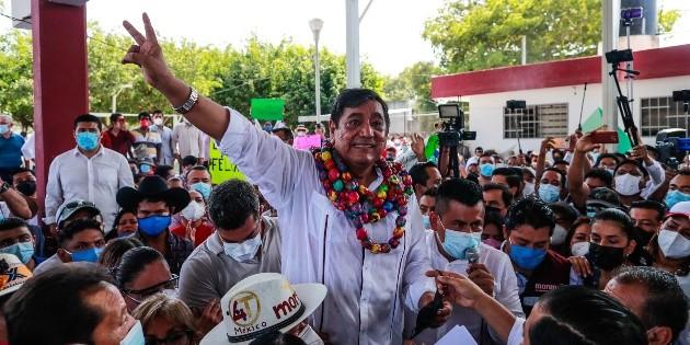 Pese a escándalos, Félix Salgado inicia su campaña por Guerrero