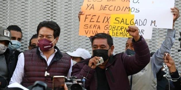Elecciones 2021: Félix Salgado Macedonio protesta frente a Tribunal Electoral