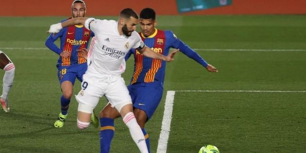 Real Madrid vs Barcelona: El golazo de taquito de Karim Benzema