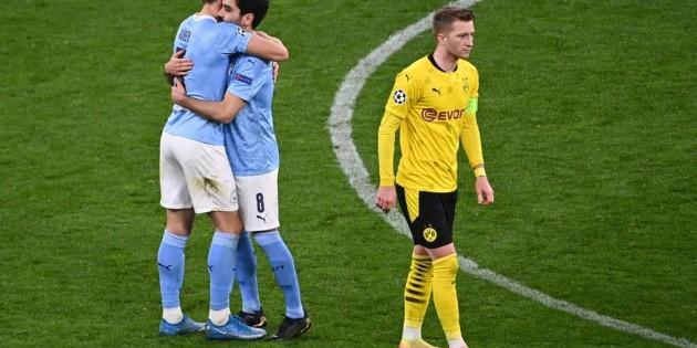 Manchester City elimina al Dortmund y jugará la semifinal ante el PSG