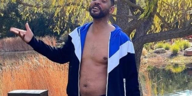 Will Smith luce su cuerpo con kilos de más, producto de la pandemia