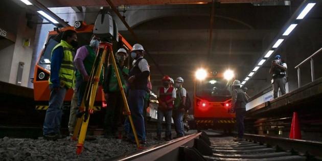 Alistan registro fotográfico de la Línea 12del Metro