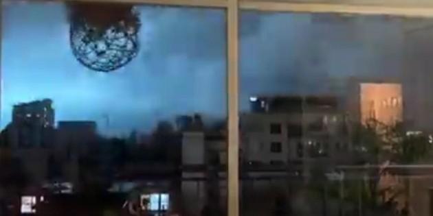 Perciben luces azules en el cielo durante el sismo en la CMDX