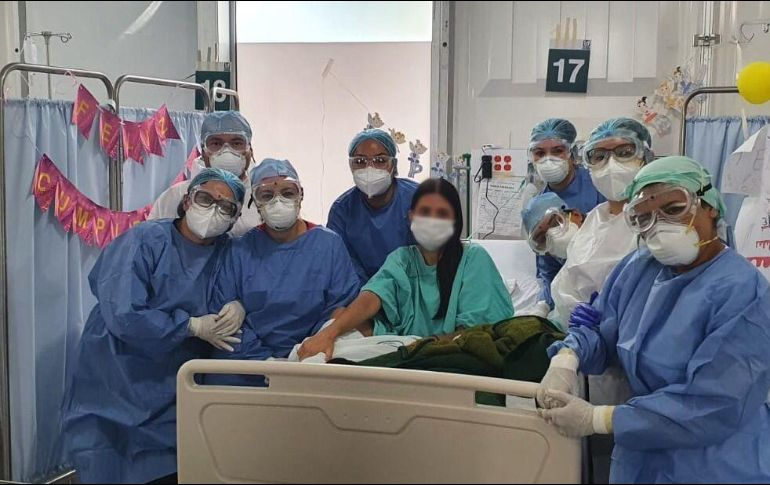Paciente trasplantada de riñón celebra su cumpleaños en ...