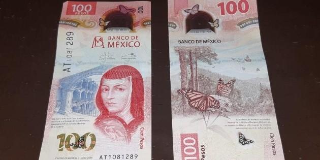 Nombran al nuevo billete de 100 pesos como el mejor del mundo
