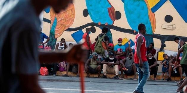 Campamento de migrantes haitianos se diluye en Ciudad Acuña