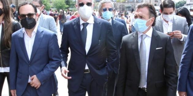 Raúl Padilla acude a tomas de protesta de Frangie y Lemus