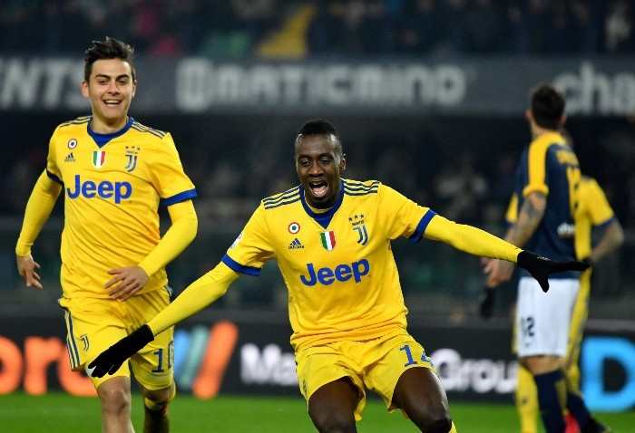 Blaise Matuidi celebra tras anotar el primer gol de la Juventus. AFP  A. Pizzoli