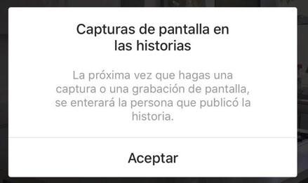 ¡Cuidado stalkers! Instagram notifica cuando hace pantallazo a historias