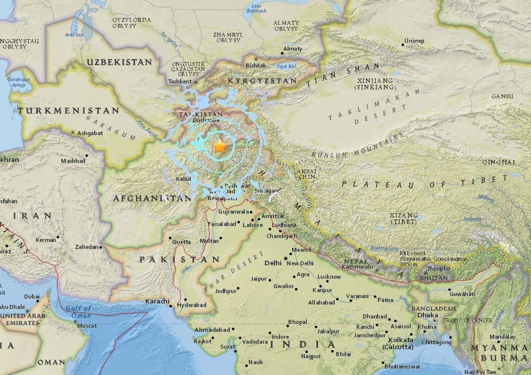 Sismo sacude a Afganistán y ciudades de Pakistán