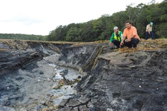 Autoridades investigan si la pérdida de agua se debe a una falla geológica. FACEBOOK/Othón P Blanco 2016-2018 Oficial