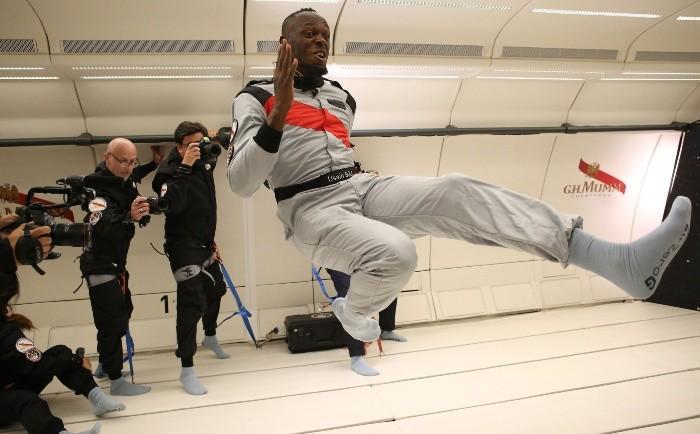 Usain Bolt también vuela cuando corre sin gravedad