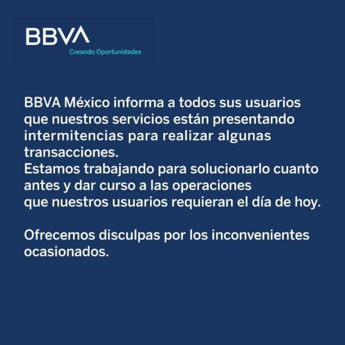 Falla aplicación, cajeros y sucursales de BBVA Bancomer | El Informador